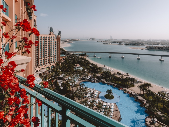 Atlantis the Palm suites view from the balcony by Dancing the Earth