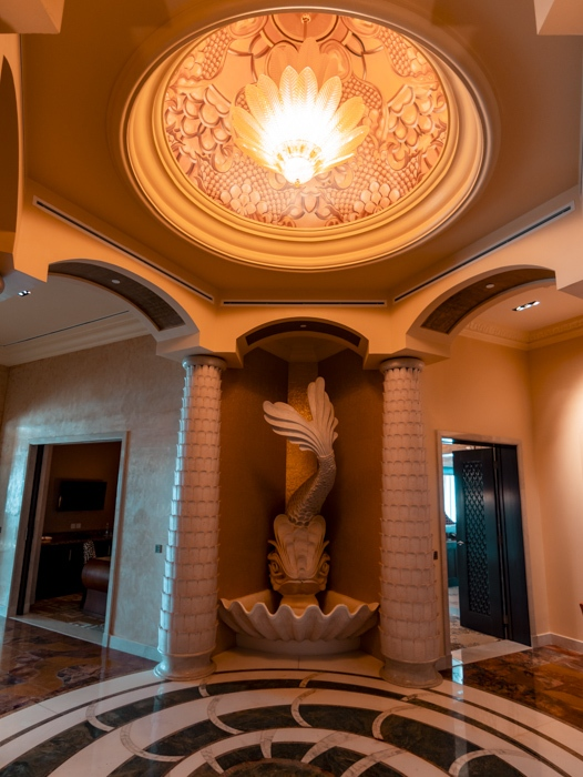 Atlantis the Palm suites entrance by Dancing the Earth