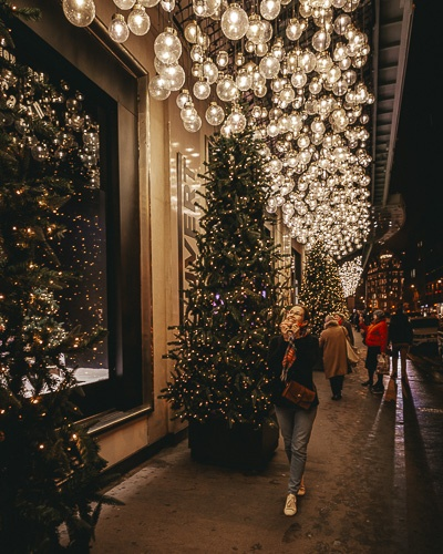 Christmas in Paris outside Le Bon Marché by Dancing the Earth
