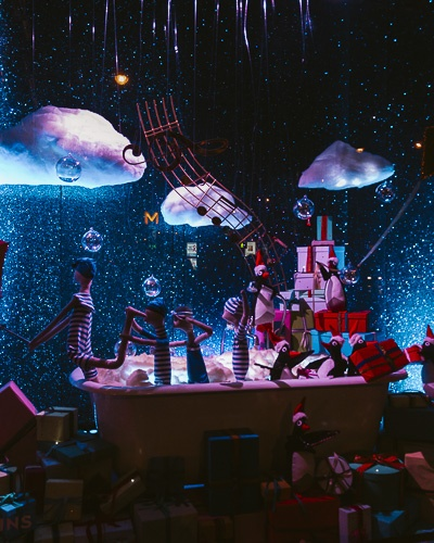 Christmas in Paris Le Bon Marché window displays in 2018 by Dancing the Earth