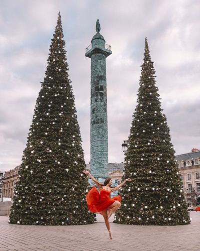 Christmas in Paris Christmas trees of Place Vendôme by Dancing the Earth