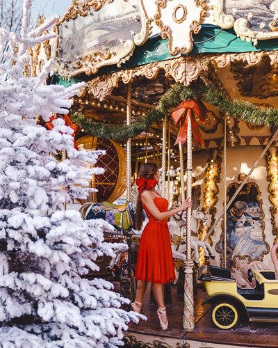 Christmas in Paris merry-go-round at Tuileries garden by Dancing the Earth