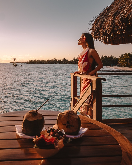 Four Seasons Bora Bora sunset from the deck by Dancing the Earth