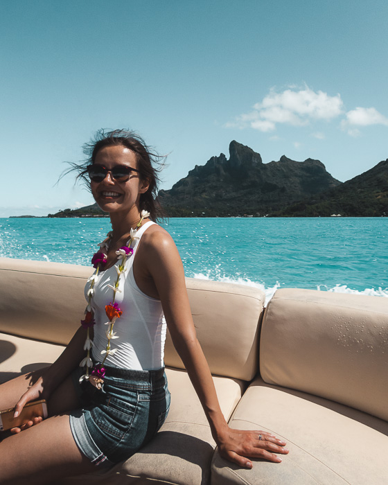 Bora Bora Mount Otemanu from the shuttle boat by Dancing the Earth