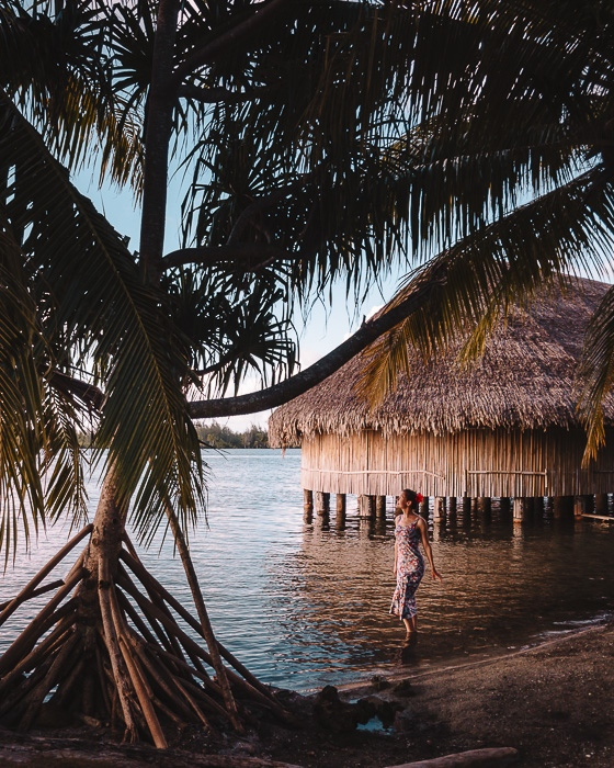 Sunset at Marae Maeva in Huahine by Dancing the Earth
