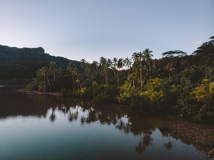 Drone view of Pension Tupuna in Huahine by Dancing the Earth
