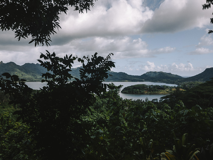 French Polynesia travel guide view over Huahine from the belvedere by Dancing the Earth