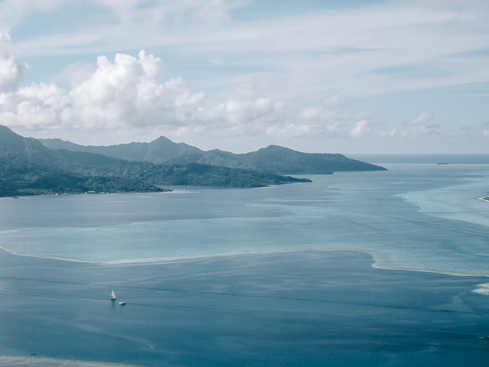 French Polynesia travel guide view over Tahaa from Mount Tapioi in Raiatea by Dancing the Earth