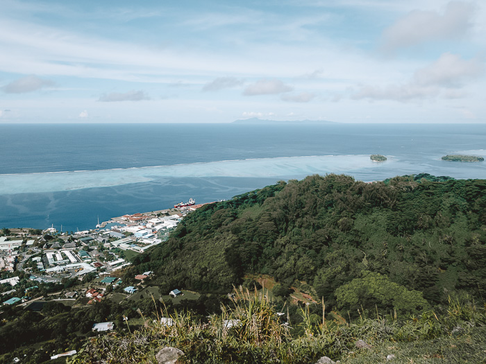 French Polynesia travel log view on Huahine from Mount Tapioi in Raiatea by Dancing the Earth