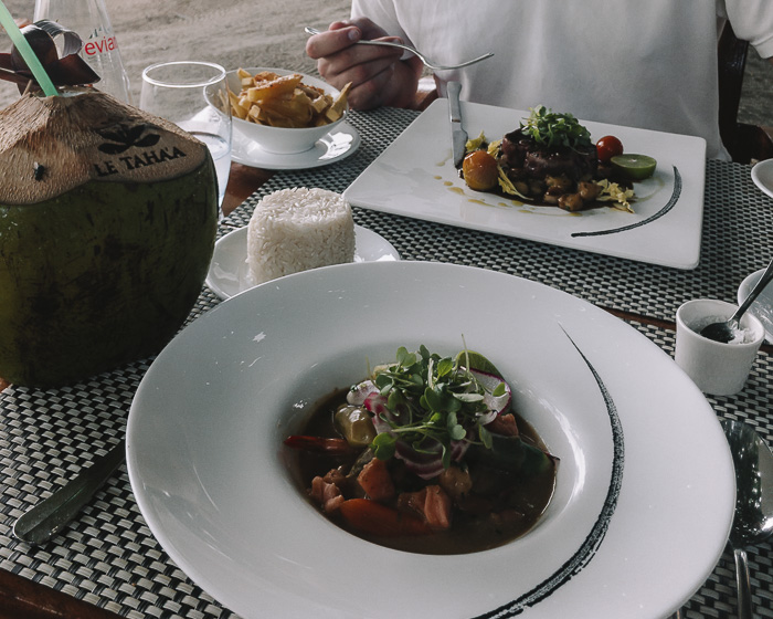 Lunch at Taha'a Island resort and spa by Dancing the Earth