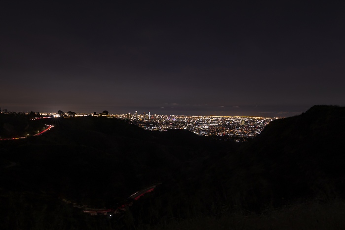 Los Angeles night view from Griffith Park by Dancing the Earth