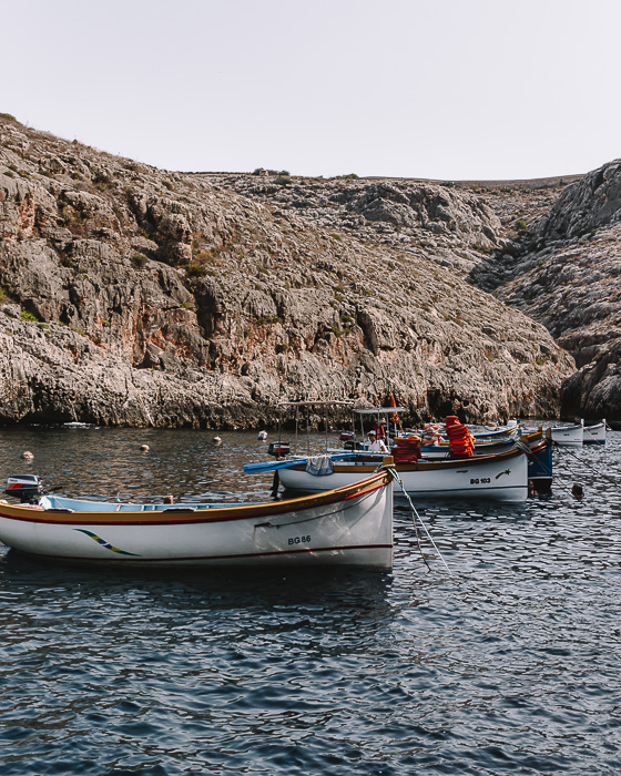 Blue Grotto boats by Dancing the Earth