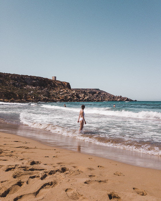 Malta travel guide Golden Bay beach by Dancing the Earth