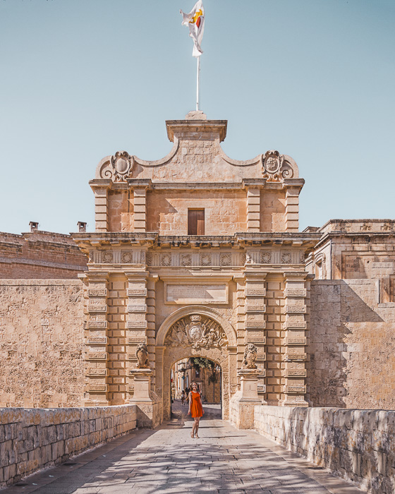 Malta travel guide Mdina gate by Dancing the Earth