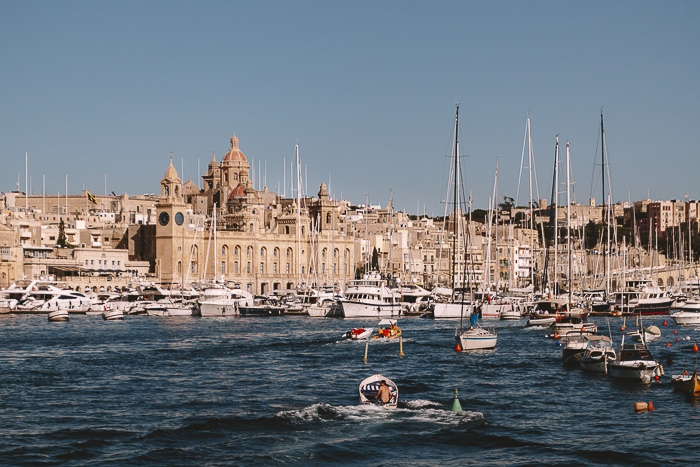 Malta travel guide Vittoriosa view from Valletta by Dancing the Earth