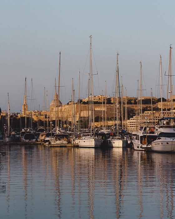 Malta travel guide golden hour on Valletta by Dancing the Earth