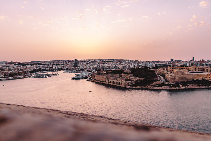 Valletta sunset from the ramparts by Dancing the Earth