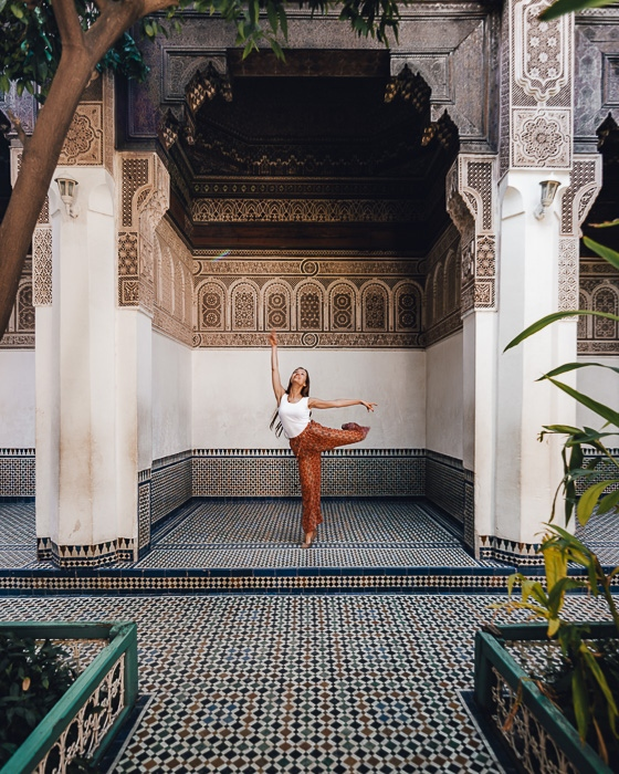 Morocco travel guide Bahia Palace corner by Dancing the Earth