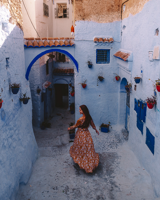 Chefchaouen house's courtyard by Dancing the Earth