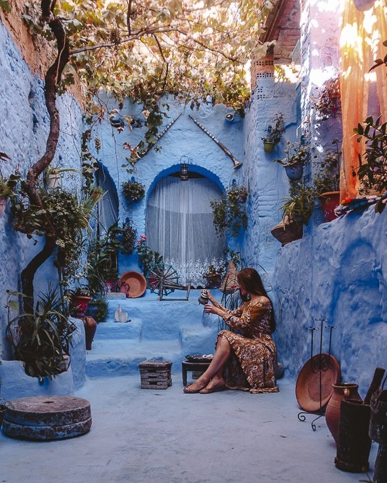 Morocco travel guide Chefchaouen House tea by Dancing the Earth