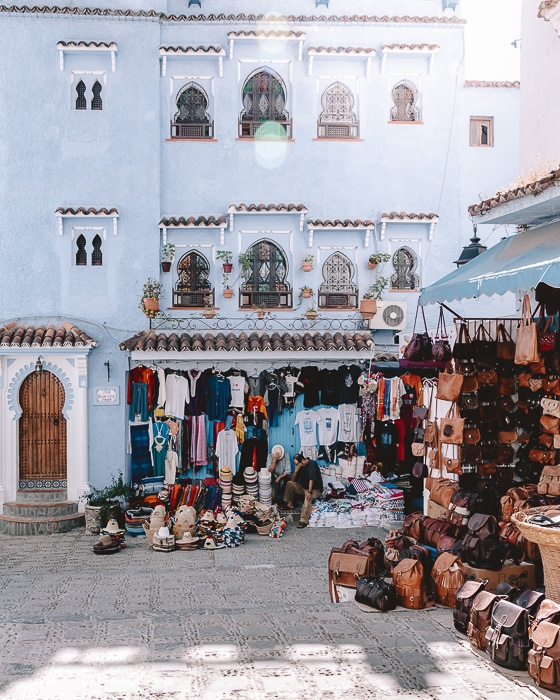Morocco travel guide Chefchaouen shops by Dancing the Earth