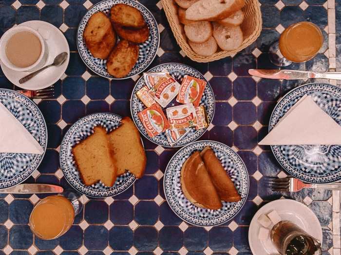 breakfast at riad Bab Rcif in Fez by Dancing the Earth
