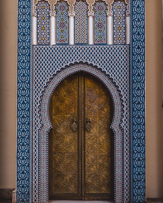 Door of the Royal Palace in Fez by Dancing the Earth