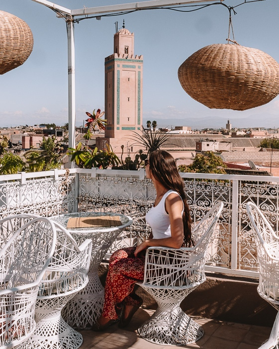 Terrasse of Atay Cafe Food in Marrakesh by Dancing the Earth