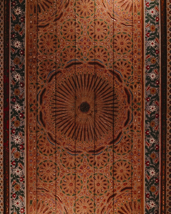 Bahia Palace carved wood ceiling detail by Dancing the Earth