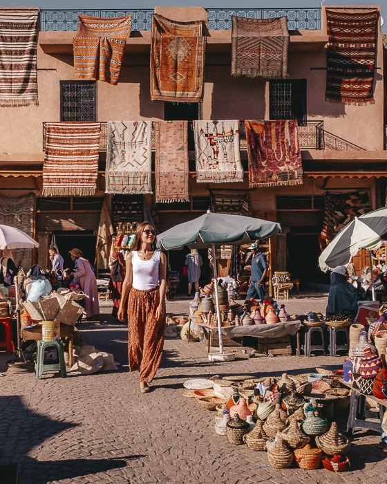 Morocco travel guide Marrakesh Place des épices by Dancing the Earth