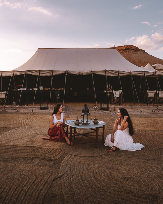 Morocco travel guide Scarabeo Camp tea by Dancing the Earth