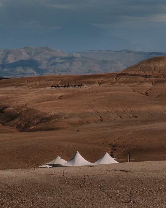 Morocco travel guide Scarabeo Camp view over the mountains by Dancing the Earth
