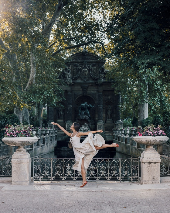 Fontaine de Medicis in Jardin du Luxembourg by Dancing the Earth