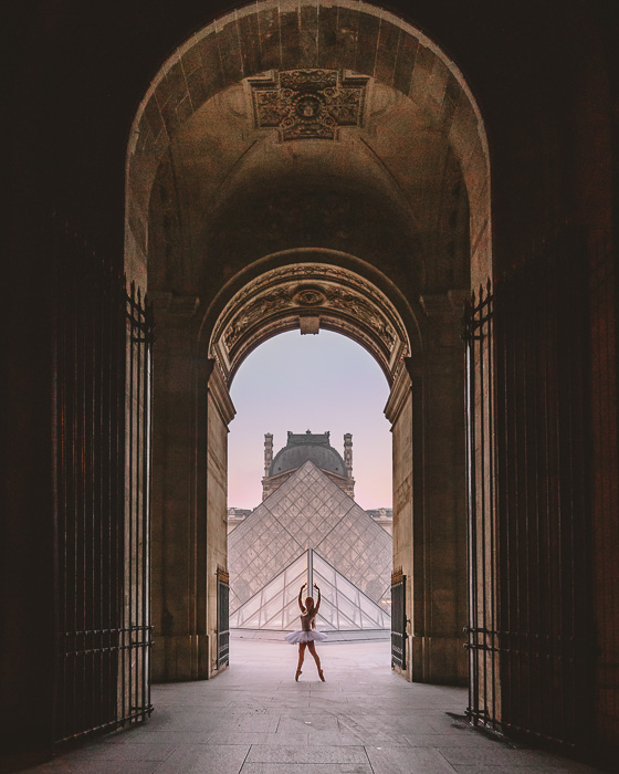 Paris Summer Louvre entrance arch by Dancing the Earth
