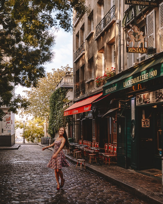 Paris in Summer Montmartre place du Tertre by Dancing the Earth