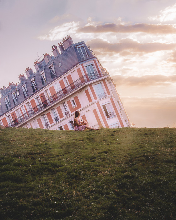 Sunrise in Montmartre sinking house by Dancing the Earth