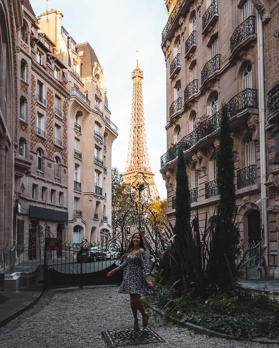 Eiffel Tower from Square Rapp by Dancing the Earth