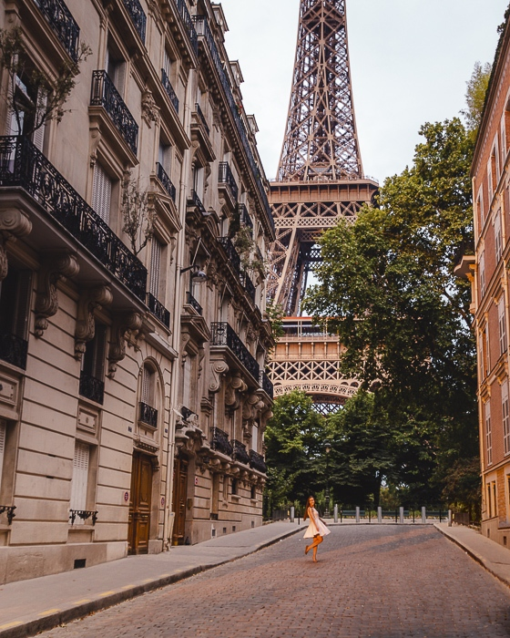 Eiffel Tower from rue de l'Université by Dancing the Earth
