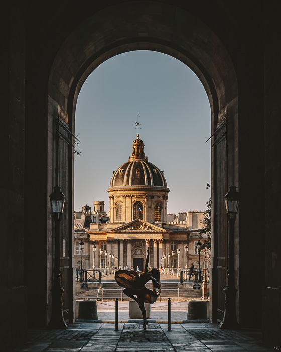 Institut de France framed from the Louvre by Dancing the Earth