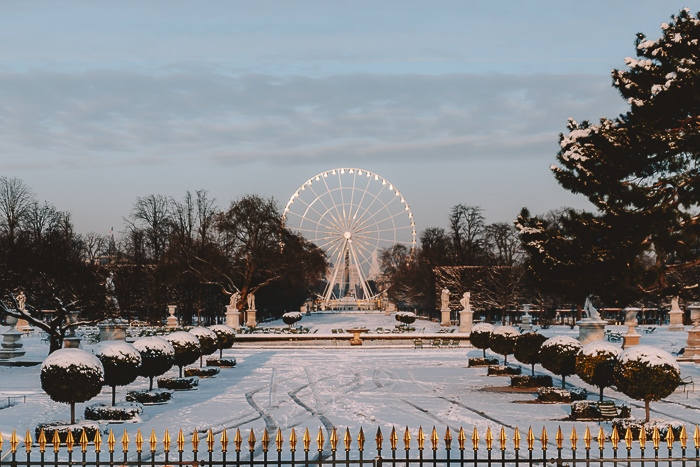 Jardin des Tuileries under the snow by Dancing the Earth