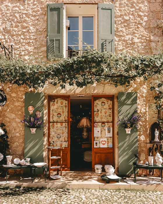 Provence ceramic shop in Moustiers Sainte Marie by Dancing the Earth