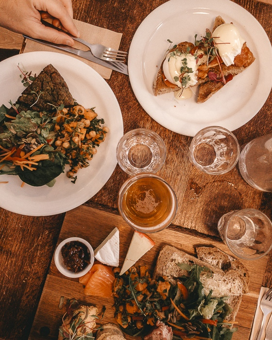 Scotland travel itinerary lunch at Larder Cafe in Edinburgh by Dancing the Earth