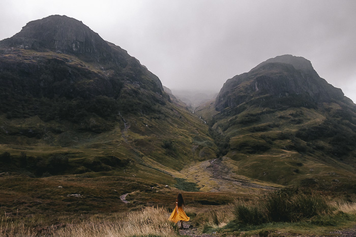 Scotland travel itinerary Glencoe Valley and the three sisters by Dancing the Earth