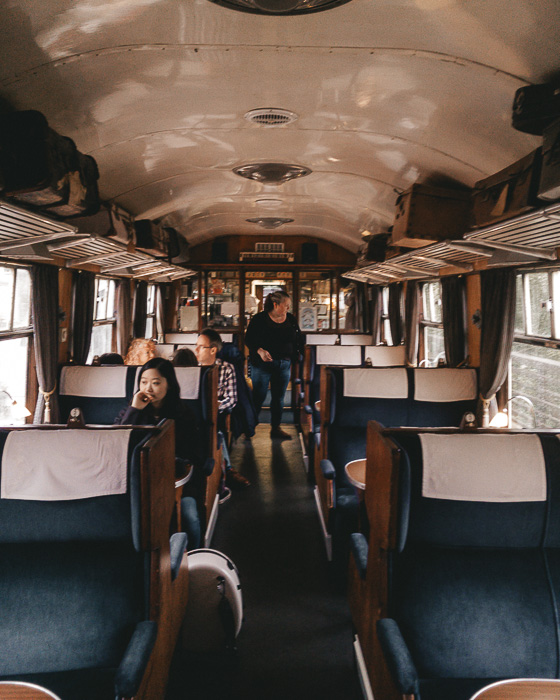 Glenfinnan dining car by Dancing the Earth