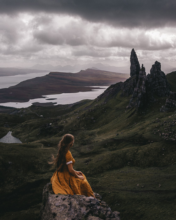 Scotland travel itinerary Isle of Skye Old Man of Storr by Dancing the Earth