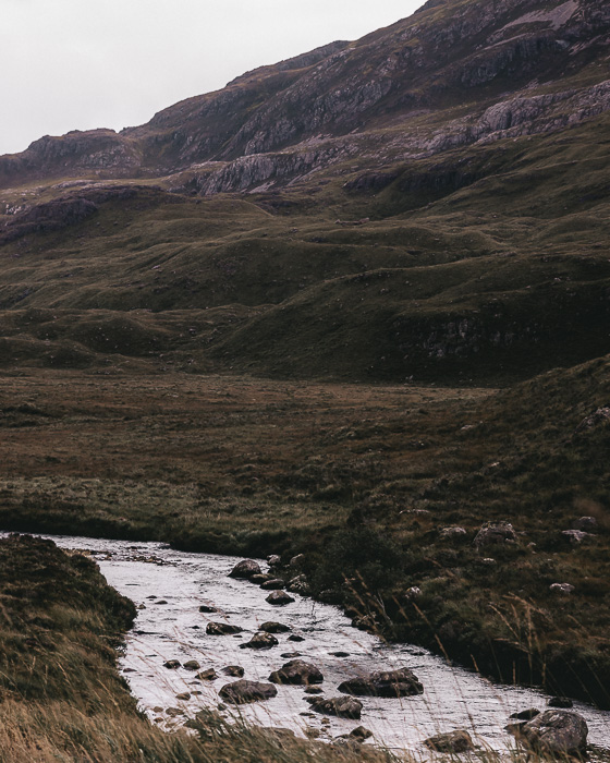 Scotland travel itinerary Torridon river by Dancing the Earth