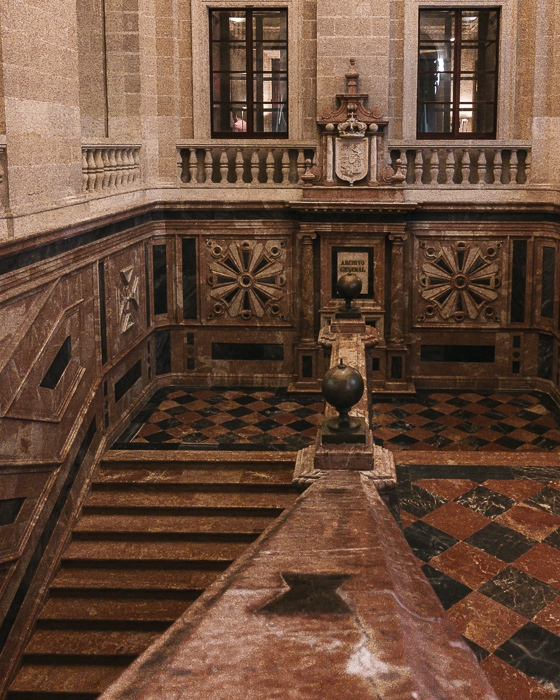 Seville Archivo de Indias staircases by Dancing the Earth