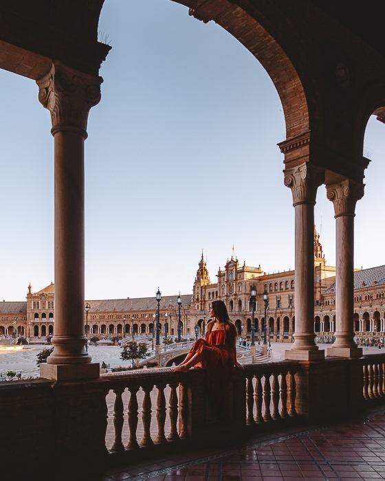 Seville Plaza de Espana arches by Dancing the Earth
