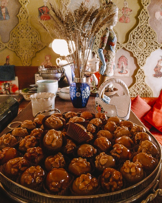 Tbilisi Cafe Leila caramelized walnuts by Dancing the Earth