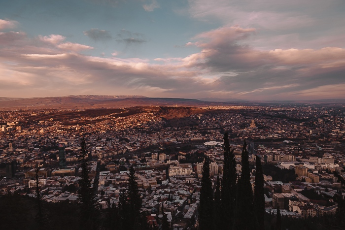 Tbilisi sunset from Mtatsminda park by Dancing the Earth